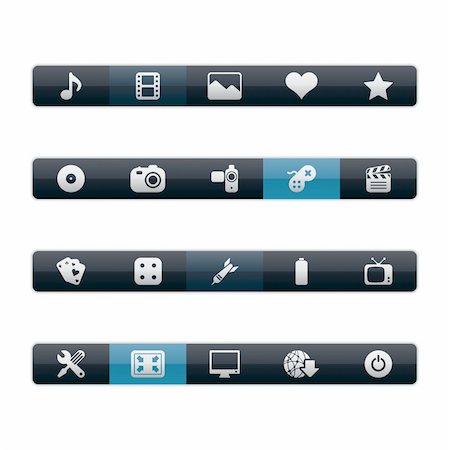 Vector Menu Bars in EPS 8 and JPG. Stock Photo - Budget Royalty-Free & Subscription, Code: 400-04324815