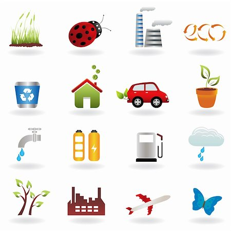 soleilc (artist) - Eco symbols in icon set Stock Photo - Budget Royalty-Free & Subscription, Code: 400-04324884