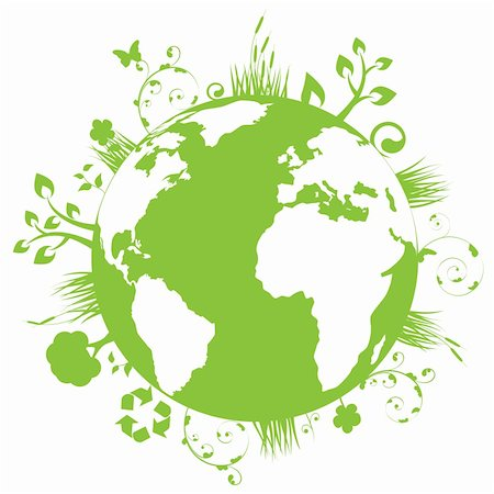 soleilc (artist) - Green and clean earth Stock Photo - Budget Royalty-Free & Subscription, Code: 400-04324888