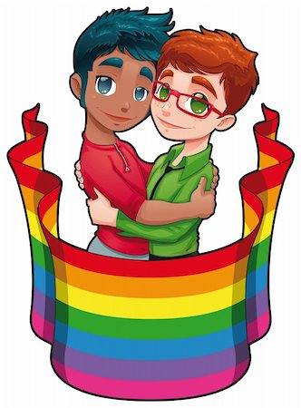 Born this way. Funny cartoon and vector image for gay pride. Isolated objects. Stock Photo - Budget Royalty-Free & Subscription, Code: 400-04325869