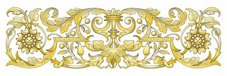 filigree tree - Gold Ornament Border vector Stock Photo - Budget Royalty-Free & Subscription, Code: 400-04326876