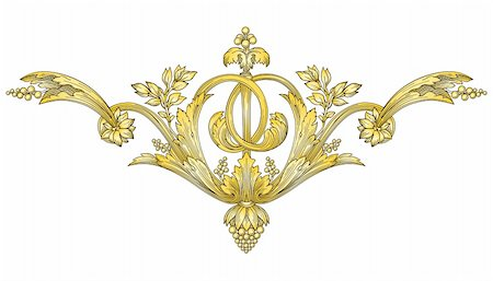 Gold Ornament vector Stock Photo - Budget Royalty-Free & Subscription, Code: 400-04326898