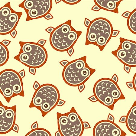 scalable - Owl square background over pale yellow color Stock Photo - Budget Royalty-Free & Subscription, Code: 400-04327927