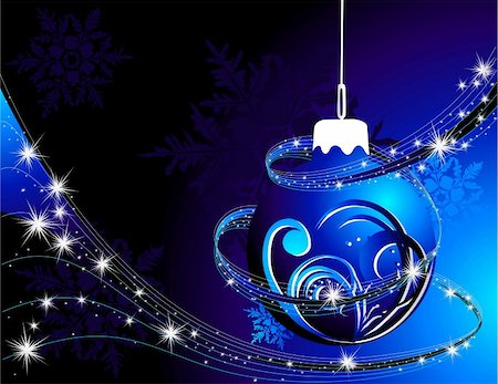 silver box - Silver  and blue Happy New Year  background Stock Photo - Budget Royalty-Free & Subscription, Code: 400-04329691