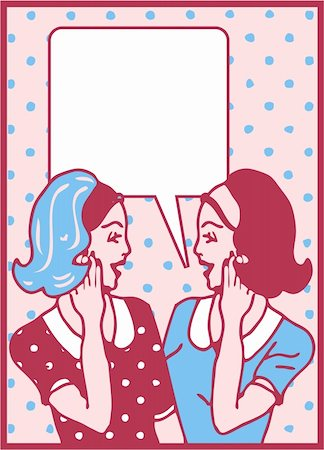 Comics style girls woman talk Stock Photo - Budget Royalty-Free & Subscription, Code: 400-04320311
