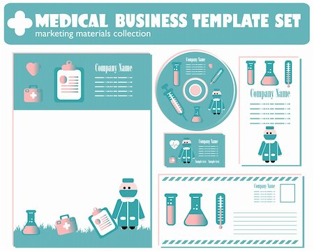 Medical Business Template set vector Stock Photo - Budget Royalty-Free & Subscription, Code: 400-04320335