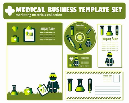 Medical Business Template set vector Stock Photo - Budget Royalty-Free & Subscription, Code: 400-04320336