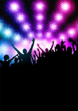 Happy Party Crowd. Vector illustration Stock Photo - Budget Royalty-Free & Subscription, Code: 400-04321441