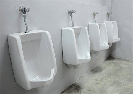 urinals at office Stock Photo - Budget Royalty-Free & Subscription, Code: 400-04321868