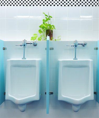urinals at office Stock Photo - Budget Royalty-Free & Subscription, Code: 400-04322526