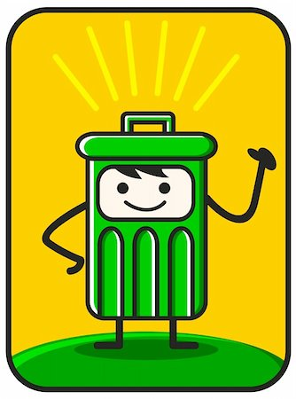 funny trash created by vector describe clean environment Stock Photo - Budget Royalty-Free & Subscription, Code: 400-04323567
