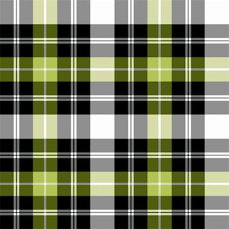 elakwasniewski (artist) - Black, grey and green checkered tartan pattern, vector seamless pattern, repeat design. Stock Photo - Budget Royalty-Free & Subscription, Code: 400-04334511