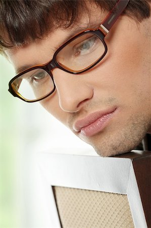 Close up portrait of handsome man in glasses Stock Photo - Budget Royalty-Free & Subscription, Code: 400-04334612
