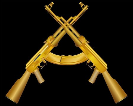 Vector illustration of two gold ak on black Stock Photo - Budget Royalty-Free & Subscription, Code: 400-04335331