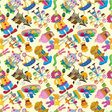 seamless playground pattern Stock Photo - Budget Royalty-Free & Subscription, Code: 400-04335454