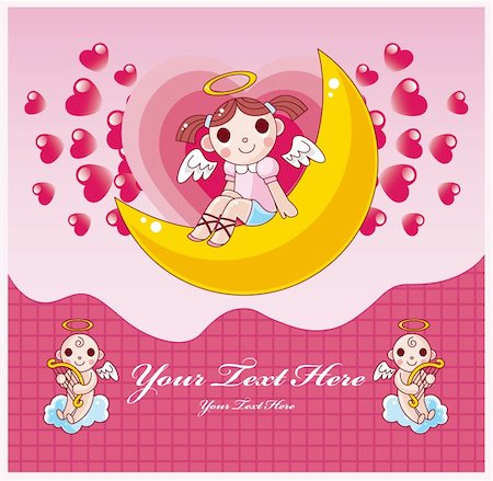 flying heart girl - Valentine card Stock Photo - Budget Royalty-Free & Subscription, Code: 400-04335455