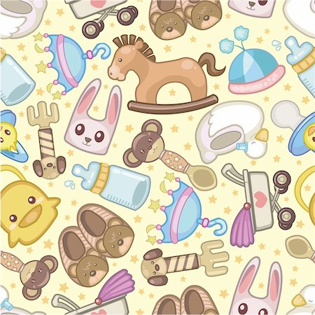 seamless baby toy pattern Stock Photo - Budget Royalty-Free & Subscription, Code: 400-04335491