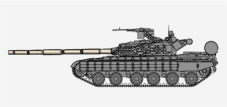 Detailed vector illustration of tank T64 Stock Photo - Budget Royalty-Free & Subscription, Code: 400-04335614