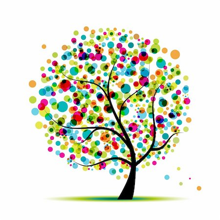 Abstract spring tree for your design Stock Photo - Budget Royalty-Free & Subscription, Code: 400-04336085