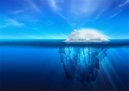 A polar bear on top of a natural iceberg glacier on the North Atlantic. Stock Photo - Budget Royalty-Free & Subscription, Code: 400-04336685