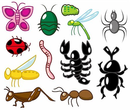 cartoon insect icon Stock Photo - Budget Royalty-Free & Subscription, Code: 400-04337080