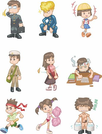 students learning cartoon - cartoon student icon Stock Photo - Budget Royalty-Free & Subscription, Code: 400-04337809