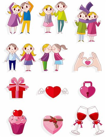 cartoon Valentine icon Stock Photo - Budget Royalty-Free & Subscription, Code: 400-04337824