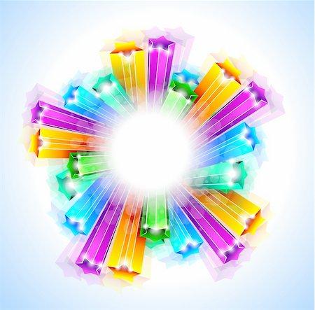 Amazing Rainbow Stars Background for Business Stylish Flyers Stock Photo - Budget Royalty-Free & Subscription, Code: 400-04338660