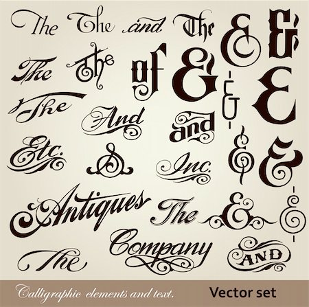 vector set: calligraphic vintage design elements and page decoration Stock Photo - Budget Royalty-Free & Subscription, Code: 400-04339660