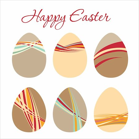 Vector illustration - Modern Egg for Easter holiday celebration Stock Photo - Budget Royalty-Free & Subscription, Code: 400-04339861