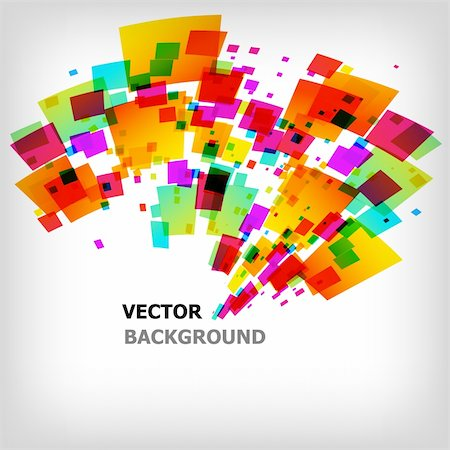 the abstract square colorful background - vector illustration Stock Photo - Budget Royalty-Free & Subscription, Code: 400-04330381