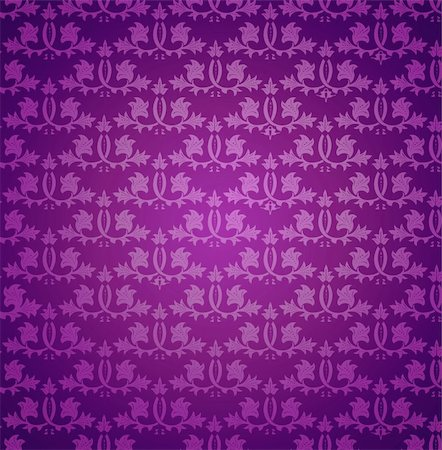 Seamless violet wallpaper pattern. Vector illustration background Stock Photo - Budget Royalty-Free & Subscription, Code: 400-04330588