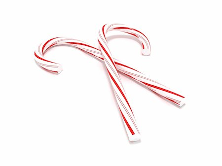 red stick candy - 3D rendering of a couple of candy canes isolated on white Stock Photo - Budget Royalty-Free & Subscription, Code: 400-04330983
