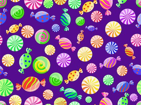 red circle lollipop - colorful striped candy seamless pattern on dark violet background Stock Photo - Budget Royalty-Free & Subscription, Code: 400-04331015