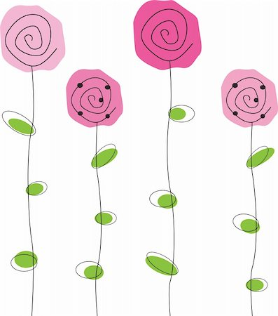 pretty in black clipart - Pretty pink simple roses flowers Stock Photo - Budget Royalty-Free & Subscription, Code: 400-04331446