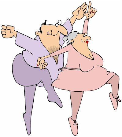 This illustration depicts a chubby old man and woman ballet dancing. Stock Photo - Budget Royalty-Free & Subscription, Code: 400-04331796