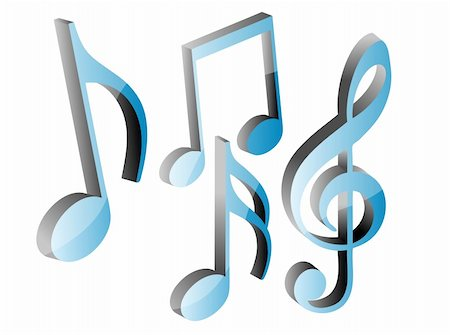 3D music note symbols, vector illustration Stock Photo - Budget Royalty-Free & Subscription, Code: 400-04332168