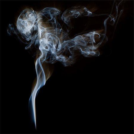 smoke magic abstract - The abstract figure of the smoke on a black background Stock Photo - Budget Royalty-Free & Subscription, Code: 400-04332302