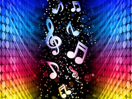 rainbow smoke background - Vector - Party Abstract Colorful Waves on Black Background with Music Notes Stock Photo - Budget Royalty-Free & Subscription, Code: 400-04332681