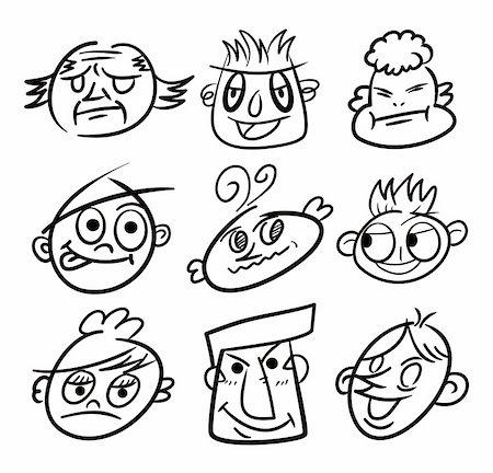 hand draw cartoon head icon Stock Photo - Budget Royalty-Free & Subscription, Code: 400-04333184