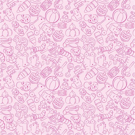 seamless baby toy pattern Stock Photo - Budget Royalty-Free & Subscription, Code: 400-04333240