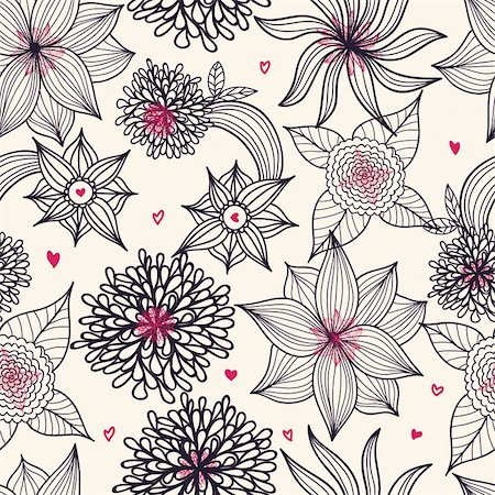 simsearch:400-04765926,k - Floral seamless pattern in vector Stock Photo - Budget Royalty-Free & Subscription, Code: 400-04333967