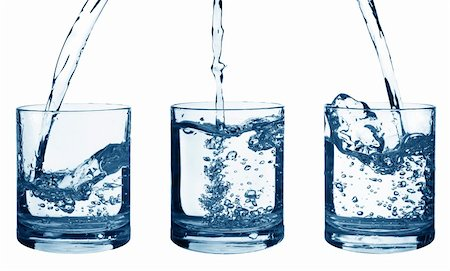 Set of flowing water in a glass isolated on white background Stock Photo - Budget Royalty-Free & Subscription, Code: 400-04344073