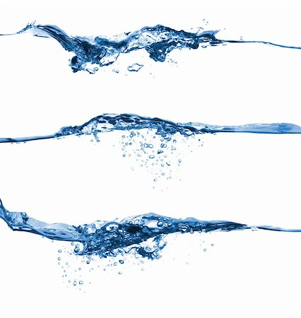 Set of water splashing isolated on white background Stock Photo - Budget Royalty-Free & Subscription, Code: 400-04344080
