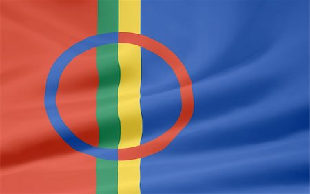 High resolution flag of the Sapmi area Stock Photo - Budget Royalty-Free & Subscription, Code: 400-04344299