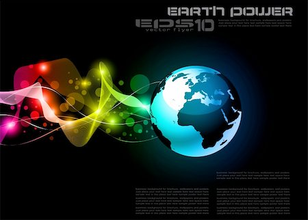Concept Earth Planet Design for Technology Futuristic Poster or Flyers Stock Photo - Budget Royalty-Free & Subscription, Code: 400-04344493