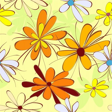 flores - Floral background Stock Photo - Budget Royalty-Free & Subscription, Code: 400-04344687
