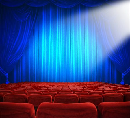 classic cinema with red seats Stock Photo - Budget Royalty-Free & Subscription, Code: 400-04345098