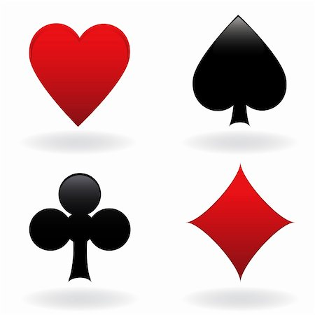 soleilc (artist) - Diamond, heart, spade and club Stock Photo - Budget Royalty-Free & Subscription, Code: 400-04345224