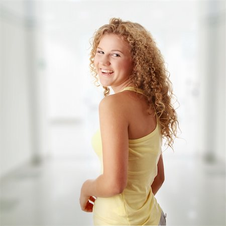 Beautiful young pudgy caucasian girl Stock Photo - Budget Royalty-Free & Subscription, Code: 400-04345761